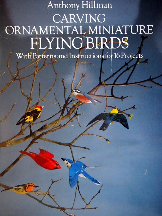 carving ornamental miniature flying birds 16 projects by