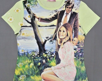 Paul Smith Shirt Women Medium Paul Smith T Shirt Women Paul Smith Retro Couple Full Print T
