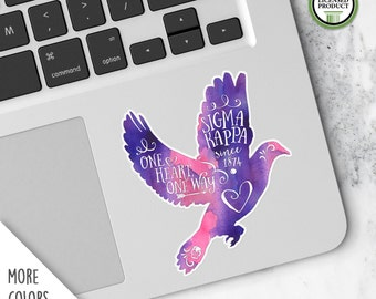 Sigma Kappa | Small Dove Decal | Sorority Big Little Reveal Gift | Official Licensed Product | SK-SD