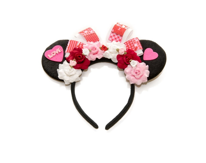Valentines Mouse Ears Headband