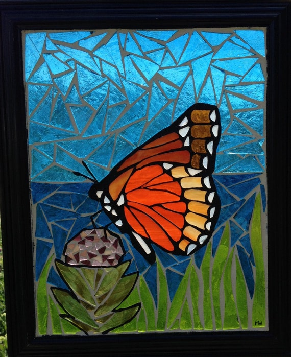 Stained Glass Monarch Butterfly Panel By Niagaraglassmosaics