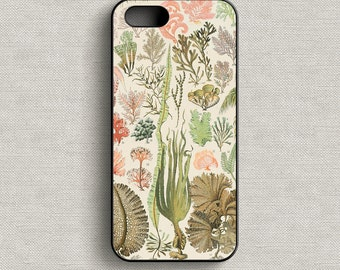 Vintage French Algae Print 103 Phone Case iphone 5 5C 6 6+ 7 7+