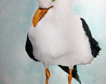 watercolor bird print bird art  Seagull