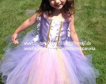 Rapunzel Inspired Tutu Dress, Tangled Tutu Dress, Pink Purple Tutu Dress, Tutu Dress Costume, Girls Dress Up, Tutu Dress, Rapunzel