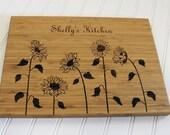 Personalized Cutting Board Sunflower Kitchen Art Mom Birthday Gift Wedding Anniversary Grandmother Chopping Board Hostess Gift