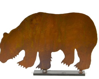 Grizzly Bear Metal Tabletop Sculpture TSC11