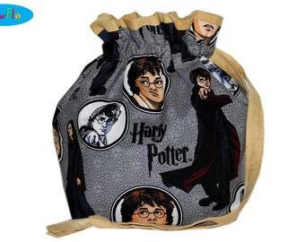 Sock Bag | Knitting Project Bag | Project Knitting Bag | Drawstring Pouch | Harry Potter Bag