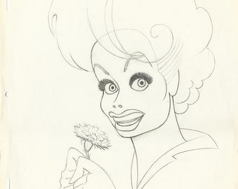 LUCILLE BALL original [reliminary pencil drawing by Dave Woodman