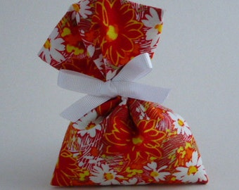 Large Scented Sachet: Lavender   & Mixed Herb, Red and White Floral