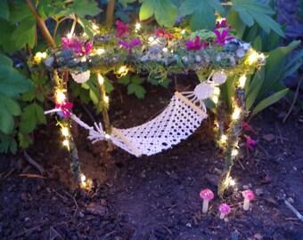 Fairy Garden Hammock Miniature Faery Garden Hammock