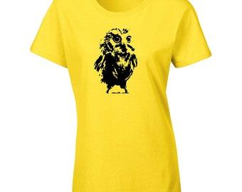 Cute Owl T-Shirt - Ladies Owl T-Shirt - Womens Owl T-Shirt - Animal T-Shirt - Bird T-Shirt - Cute Womens Owl Tshirt