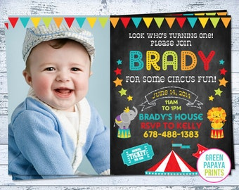 Circus Birthday Invitation - Circus Invite - Circus Birthday - Carnival Birthday - Printable Birthday Invitation - Printable Digital File