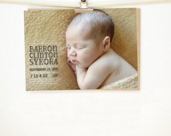 Baby Bear Birth Announcement - Printable File