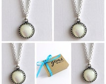 Pearl Bridesmaid Set of 4, Four Ivory Mother of Pearl Necklaces, Bridal Party Jewelry, Set of Silver Necklaces