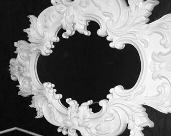 Vintage White Wall Mirror