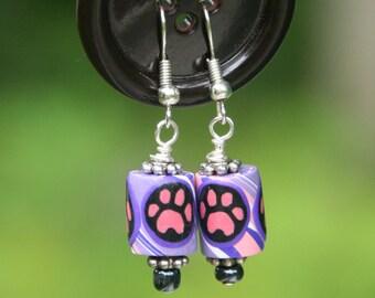 Paw Print Earrings
