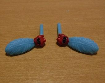 Monster High Jane Boolittle Gloom And Bloom Earrings Repaint Custom OOAK