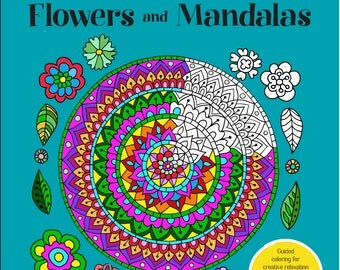 I Sassi dell'Adriatico - Sehnaz BAC Coloring BOOK - Brilliantly Vivid Color by number - Flowers and Mandalas (Signed by Author)