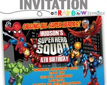 189: DIY - Super Heroes Party Invitation Or Thank You Card