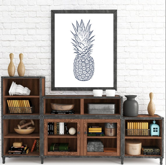 Pineapple Print, Pineapple Art, Wall Print, Art Printable, Printable Art, Pineapple, Wall Decor, Digital Print, Print Art, Digital Prints