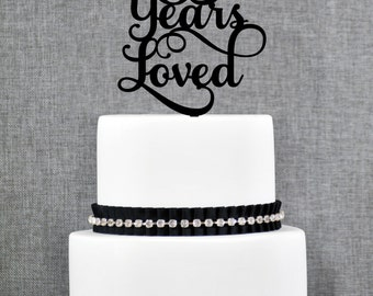 85 Years Loved Birthday Cake Topper, Elegant 85th Anniversary Cake Topper, 85th Cake Topper- (T245-85)