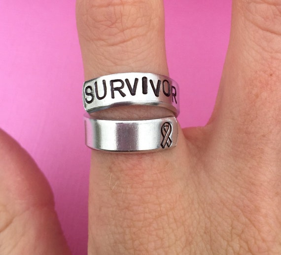 Hand Stamped Sterling Silver Spiral Twist Wrap Ring