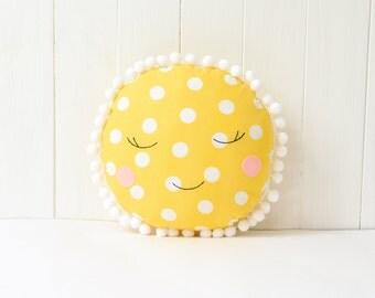 Sun Pillow Kids Pillow Bed Nursery Decor Baby Pillow Baby Shower Sun Cushion Nursery Pillow Baby Gift Kids Decor Sun and moon
