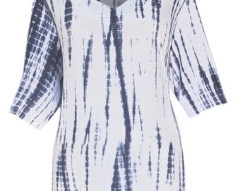 "Women's Plus Size Tie Dye Tunic Top | Plus Size Tunic Top | One Size up to 54"" Bust for Full Figure Women 