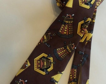 "Daleks ""Exterminate"" Dr. WHO tie"