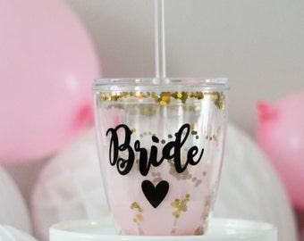 Bride Wine Tumbler, Bride Cup, Bride Gift, Bride Tumbler