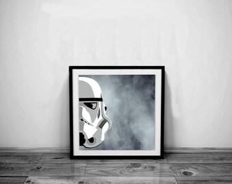 Star Wars Art Stormtrooper Art Stormtrooper Helmet Star Wars Print Stormtrooper Print Star Wars Poster Star Wars Gift Stormtrooper Poster