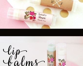 Rustic Bridal Shower Favors Unique Wedding Favors Lip Balm Wedding Favors Lip Balm Favors Wedding Chapstick Favors (EB3031MP) - set of 16|