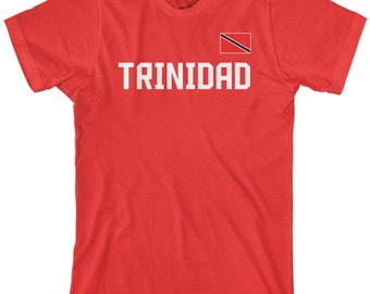 Trinidad National Team Men's T-shirt Trinidadian Republic Soccer West Indies Football Caribbean Island Trinity Flag - TA_00252