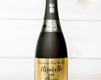 Champagne / Mini Champagne Labels for Wedding- Gold Foil Labels- Wedding Wine - Party Labels