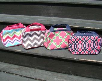 Lunch Bags Chevron, Quatrefoil, Seersucker Insulated