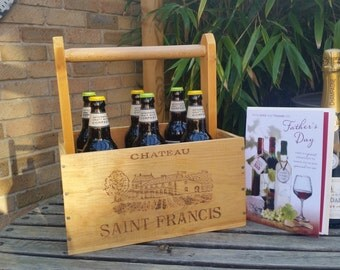 Beer Trug from French Wine Crate