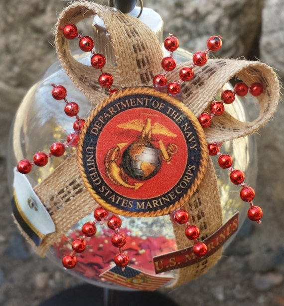 US Marines Christmas Ornament United States By BeautifulBalls