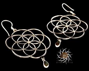 Silver Earrings - Tribal Earrings - Indian Earrings - Gypsy Earrings - Ethnic Earrings - Statement Earrings - Long Earrings (ES61)