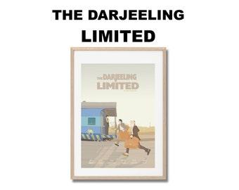 The Darjeeling Limited Movie Print - Poster Wes Anderson A3