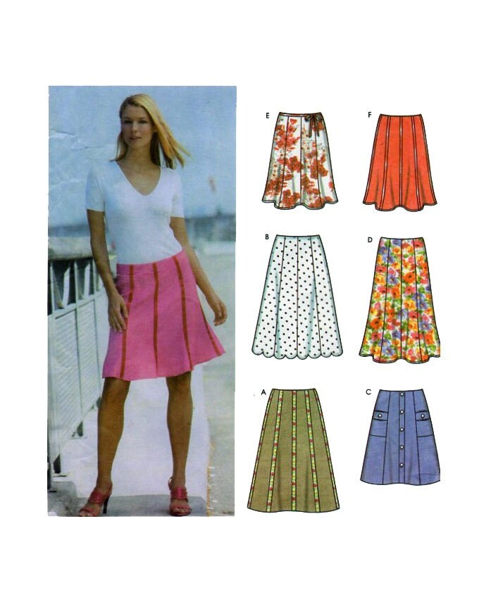 simplicity 5199 0698 womens skirt sewing pattern plus