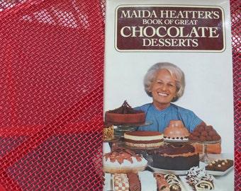 Vintage CookBook of Great Chocolate Desserts Maida Heatter Dessert Cookbook