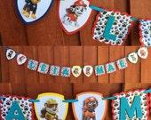 Paw Patrol Banner, Paw Patrol birthday banner, Paw Patrol party decor, Paw Patrol party decorations, Paw patrol birthday decorations
