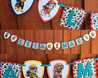 Paw Patrol Banner, Paw Patrol birthday banner, Paw Patrol party decor, Paw Patrol party decorations, Paw patrol birthday decorations, Dog