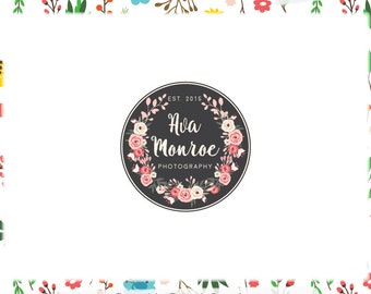 Floral Logo Design - Web & Print Files + Watermarks! - Limited Edition! Perfect For Boutique, Handmade Shop, Photographer + much more!
