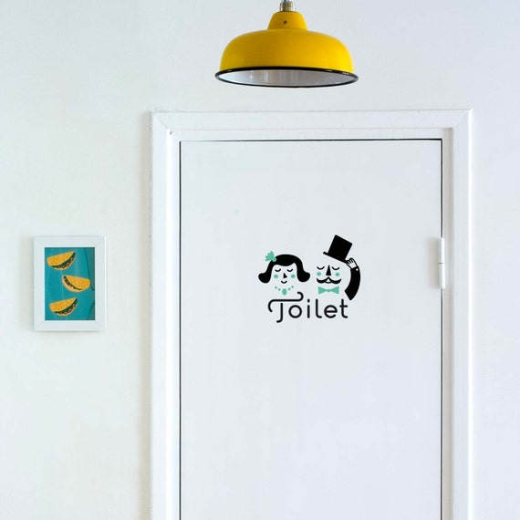 852 Bathtub Data Base Emails Contact Us Hk Mail: Ladies & Gentlemen Toilet Sign Door Decal / Bathroom / WC