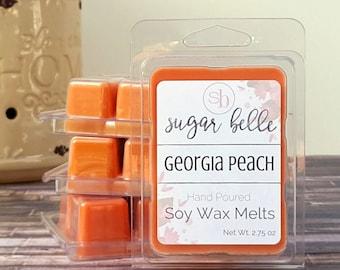 Wax Tarts - Soy Wax Melts - Candle Tart Melts - Scented Wax Cubes - Spring Wax Melts - Clamshell Wax Cubes - Georgia Peach Wax Tarts