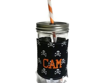 Halloween Mason Jar Tumbler, Gifts for Her, Personalized Gifts