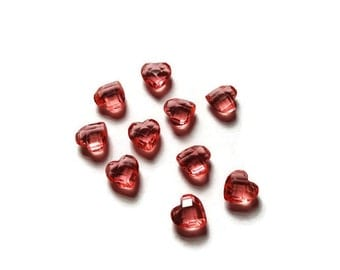 1-Piece 6mm Rose Heart Floating Charm for Floating Lockets-October Birthstone-Great Gift Idea