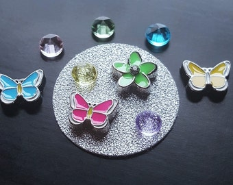 Butterfly Floating Charm Set for Floating Lockets-10 Pieces-Gift Ideas for Women