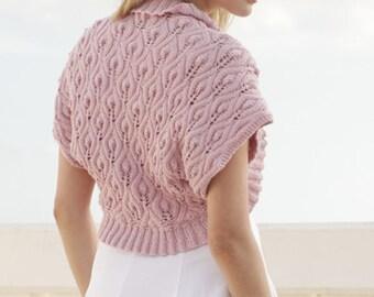 Knit bolero,shrug,knit sleeves,knit shrug,wedding bolero Made to order